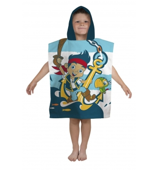 Jake & The Neverland (Shark) Pirate Hooded Towel