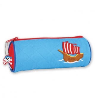 Stephen Joseph Quilted Pencil Case - Pirate