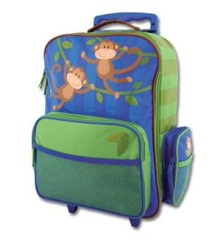 Stephen Joseph Rolling Luggage - Monkey