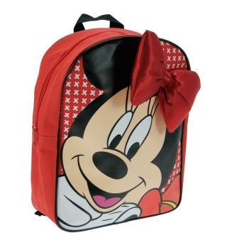 Disney Minnie Mouse Backpack with Bow (Red)
