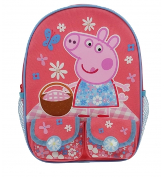 Peppa Pig Home Sweet Home Twin Pocket Backpack (Premium backpack)