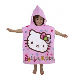 Hello Kitty Folk Hooded Towel